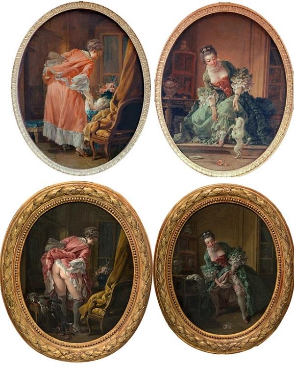 François Boucher, série Randon de Boisset, 1742 ou 1760, 52.5x42cm, Karlsruhe et coll. part.