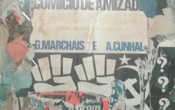 Ana Hatherly, Les rues de Lisbonne, 1977 |  Collage sur Platex et Papier 110 x 85 cm, détail | Collection CAM - Fondation Calouste Gulbenkian; Ph; M. Lenot