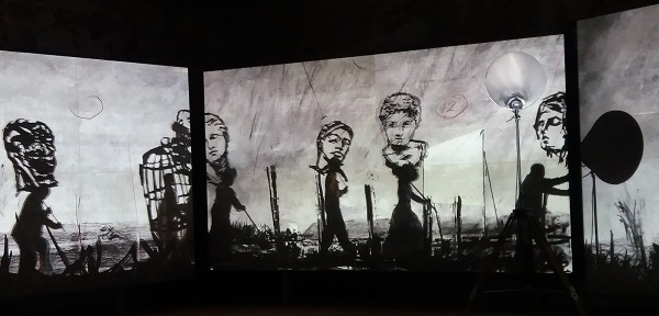 William Kentridge, More Sweetly Play The Dance, 2015, vue d'exposition
