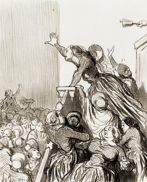 Honoré Daumier, Les Divorceuses, 1848, lithographie 36.5x25cm, BNF